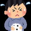 食中毒のウィルスや細菌で腹痛に苦しむ男性の絵