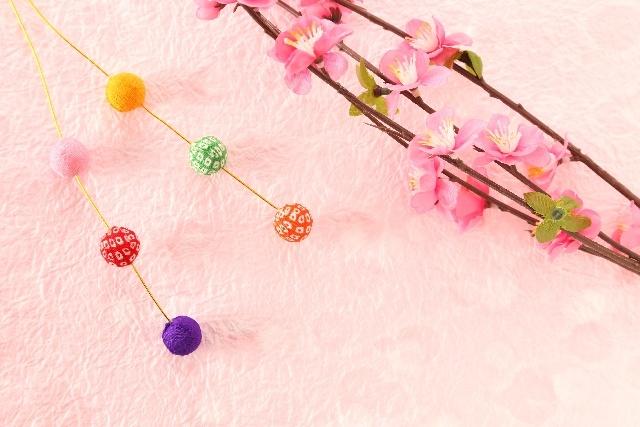 小正月の餅花と梅