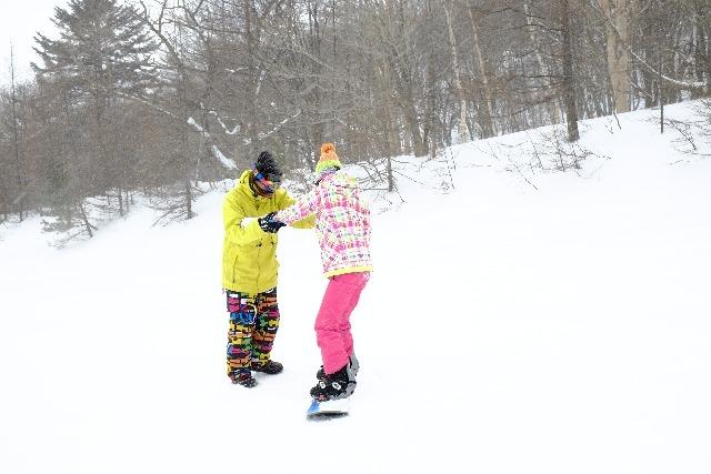 スノボ初心者の練習