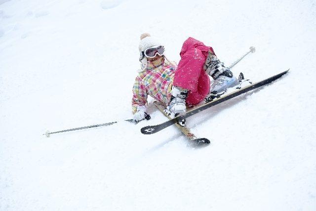 スキー初心者の練習