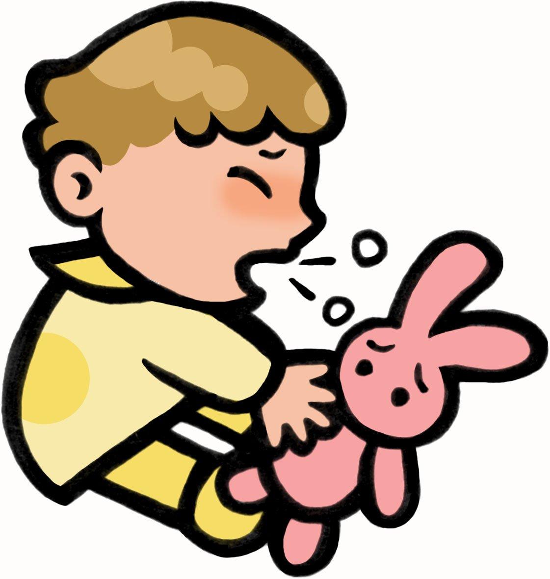 咳・くしゃみをする赤ちゃん